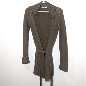 Calvin Klein Knitted Belted Cardigan